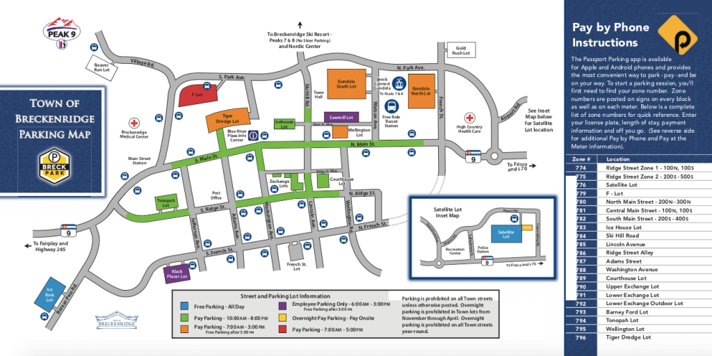 Breck Parking Map